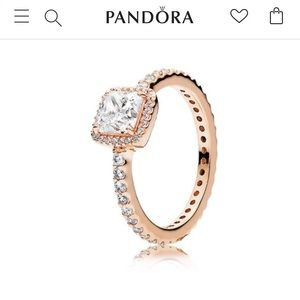 SALE. Pandora Rose Gold Ring size 6